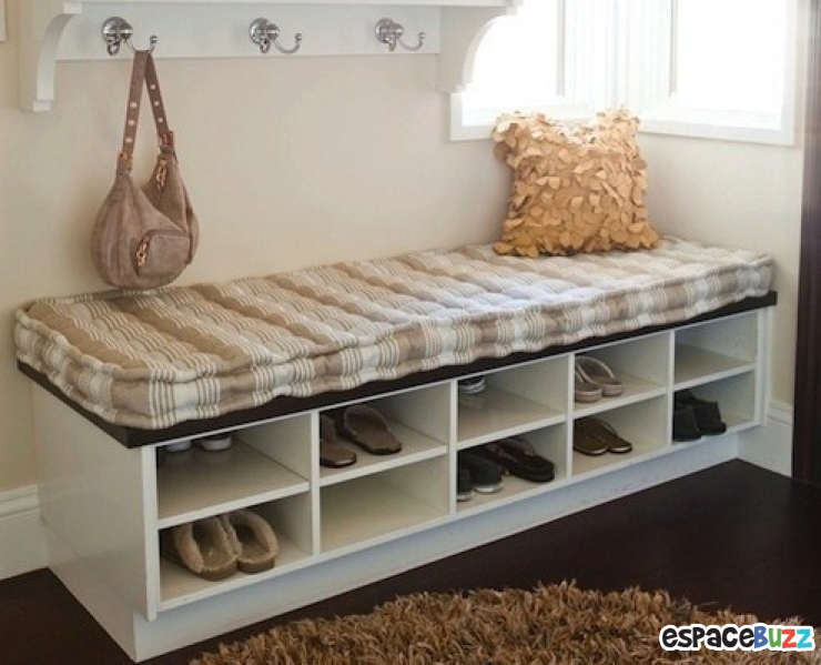9 id es de rangements pour vos chaussures. Black Bedroom Furniture Sets. Home Design Ideas