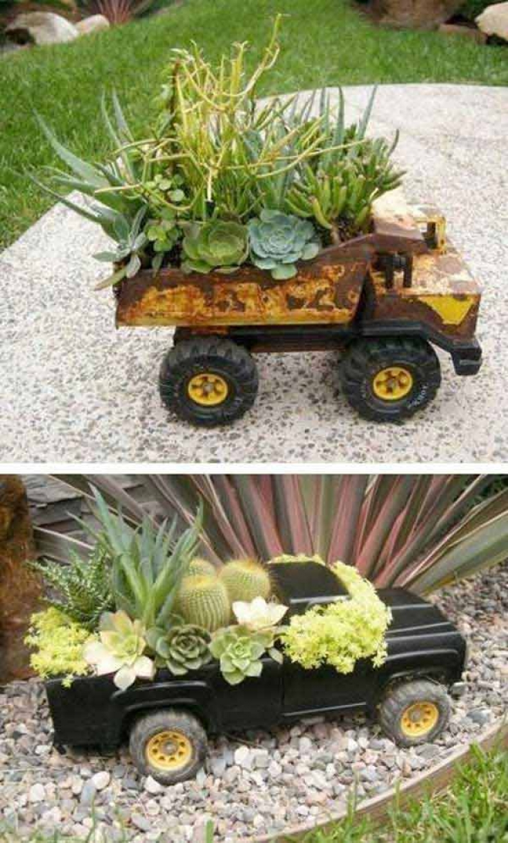 Deco jardin recup decorating ideas - Decoration jardin recup ...