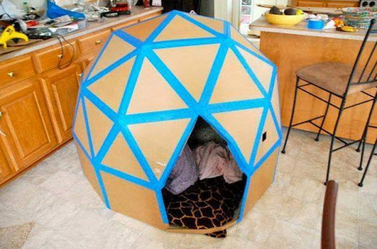 Turbo Beau Fabrication D Un Igloo En Carton #10: Eco Igloo - This Would  QY04