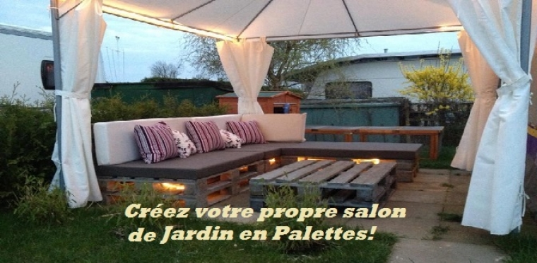 salon de jardin en palette tuto finest dco mobilier jardin hesperides angle stupefiant mobilier. Black Bedroom Furniture Sets. Home Design Ideas