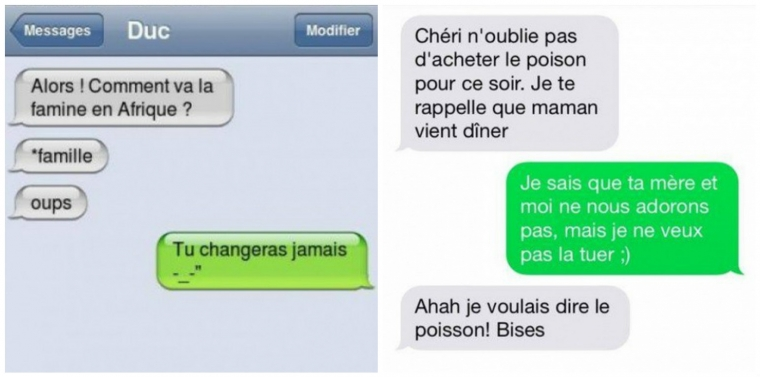 message iphone drole