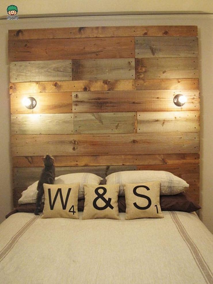 une srie de clichs qui vous permettra de vous raliser une tte de lit originale et personnalise - Tete De Lit En Bois