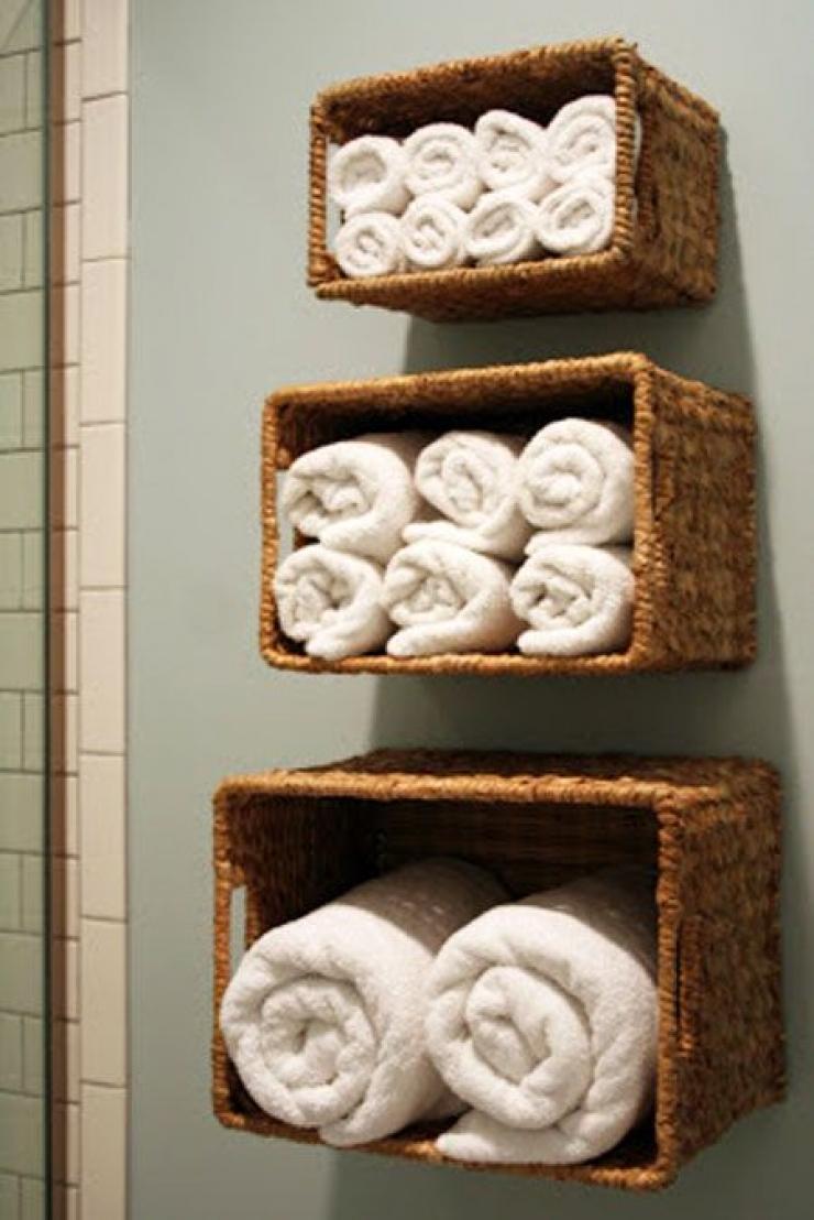 Astuce Rangement Serviette Salle De Bain ~ si vous avez une petite salle de bain ces 17 astuces de rangement