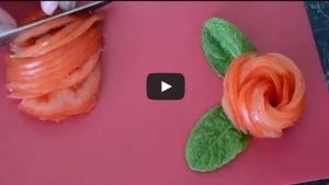 Image illustrant l'article Un jolie rose à réaliser avec une tomate... Rien de plus simple !
