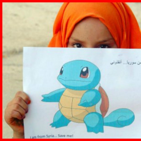 Photo : La réaction des enfants Syrien face à l'énorme Buzz de Pokemon Go !