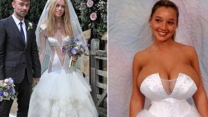 Image illustrant l'article 14 robes de mariée à la fois originales mais surtout ridicules ! Ne surtout pas s'inspirer pour votre mariage