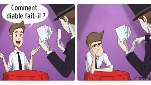 Image illustrant l'article Ce que tu vois la première fois que tu portes des lunettes. (10 illustrations)