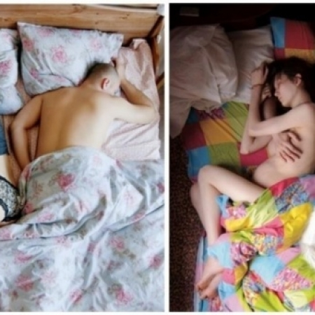Photo : 20 couples de futurs parents photographiés au lit, en tout intimité...