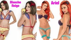 Image illustrant l'article Quand les princesses Disney inspirent la lingerie fine...