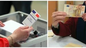 Image illustrant l'article Impossible de ne pas sourire devant le nom écrit sur ce billet de 50€, trouvé dans les bulletins d'un bureau de vote parisien.
