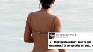 Image illustrant l'article Réponse de Kim Kardashian après les nombreuses critiques reçues sur la forme et l'état de ses fesses!