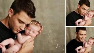Image illustrant l'article 20 photos de papas heureux de passer un moment avec leur bébé...
