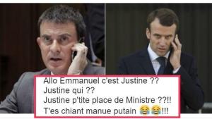 """Image illustrant l'article """"En marche"""" Vers Le Fou Rire, Valls Rejoint Macron Et Le Web S'amuse..."""
